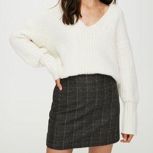Aritzia Wilfred New Classic Check plaid mini Skirt